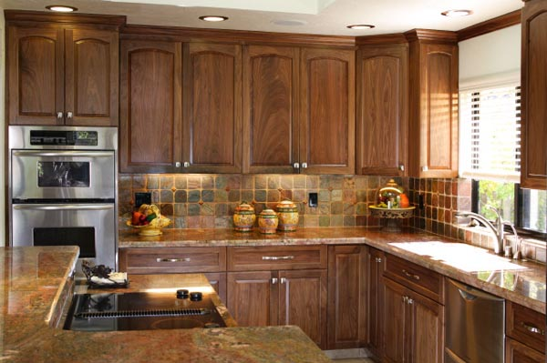 Walnut cabinets for Walnut kitchen designs